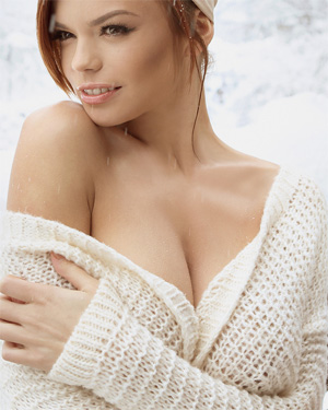 Olga Ogneva Busty Snow Chick