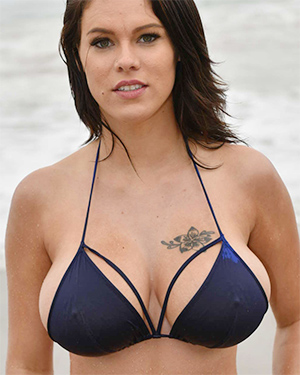 Peta Jensen Blue Bikini Skinny Dipping