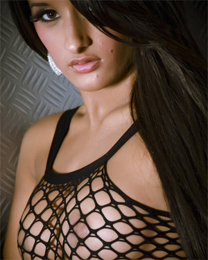 Preeti Black Fishnet