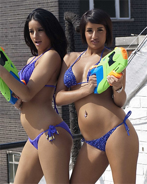 Priya and Preeti Water Fight