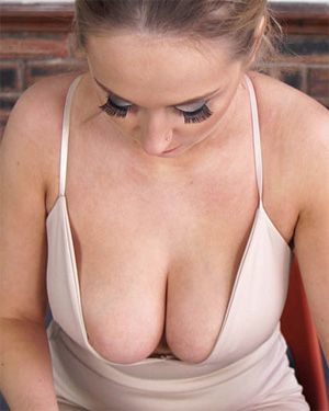 Rachael C Natural Knockers Downblouse