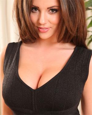 Rachel Williams Black Dress Cleavage
