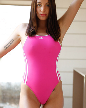 Rochelle Tight Pink Swimsuit Heaven