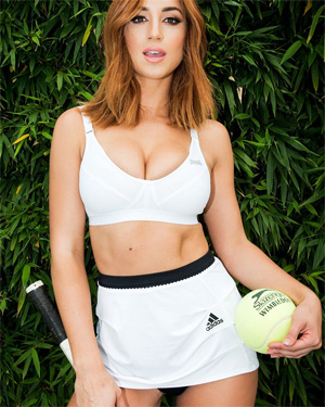 Rosie Jones Busty Tennis Player