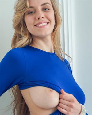 Ryana Blue Dress Beauty Sex Art