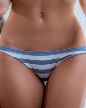 Samantha Shane Striped Panties