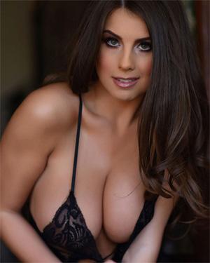 Sarah McDonald Sexy Black Lingerie