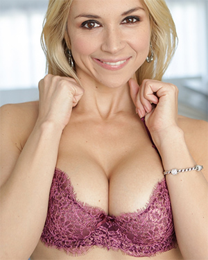 Sarah Vandella Purple Lingerie Beauty