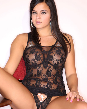 Sasha Cane Black Lingerie