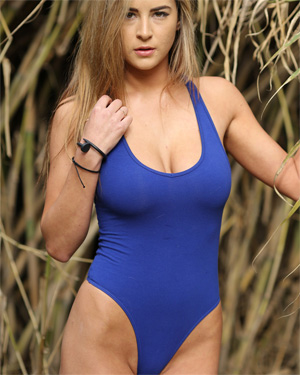 Savannah Blue Thong Leotard