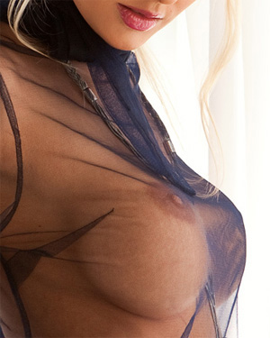 Shera Bechard Sheer Shirt Playboy