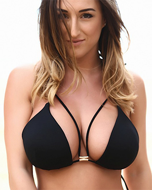 Stacey Poole Black Bikini Boobs
