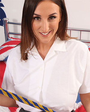 Stacey Poole big boobs in a tight uniform