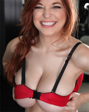 Tessa Fowler Red Bra Smile