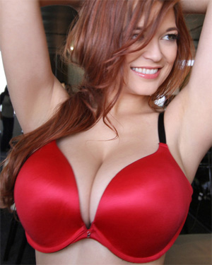 Tessa Fowler Trying on Bras
