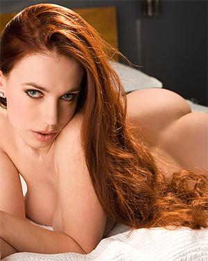 Titania Lyn Busty Redhead In Bed