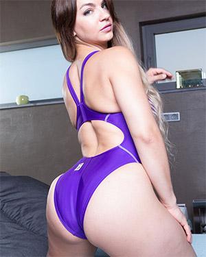 Valentina Sexy Purple Swimsuit Heaven