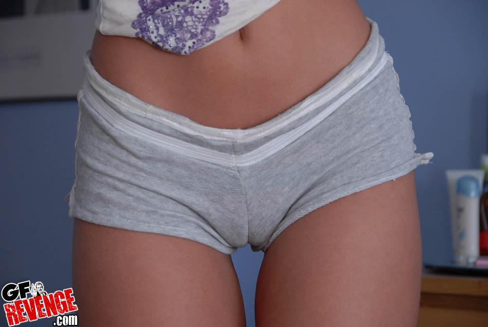 Ass shorts shot tight self booty