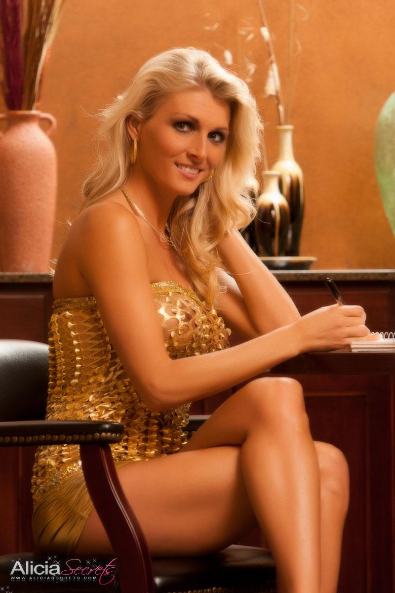 Hotty Stop Alicia Secrets Gold Dress