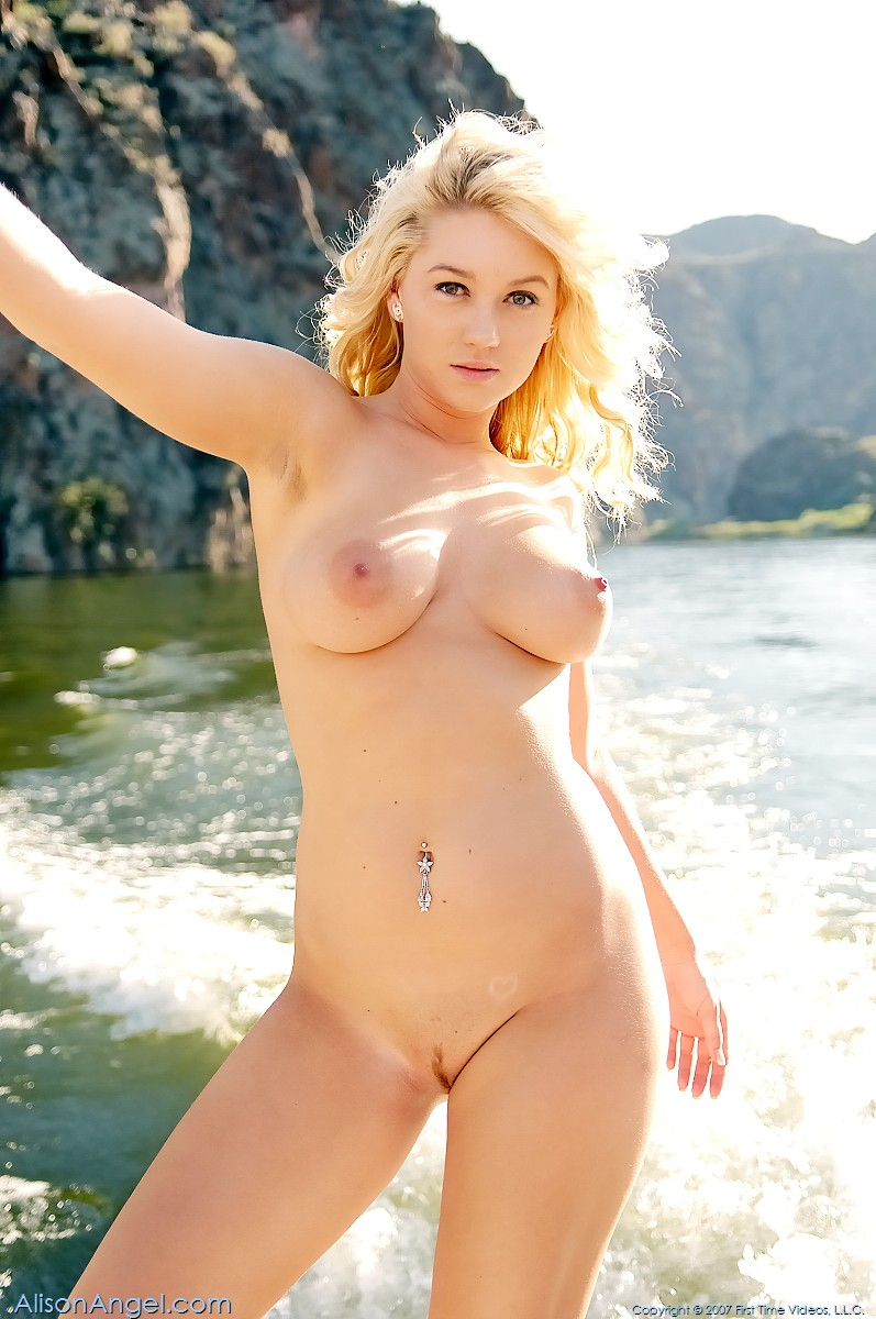 Alison Angel Videos hotty stop / alison angel relaxing at the lake in her boat