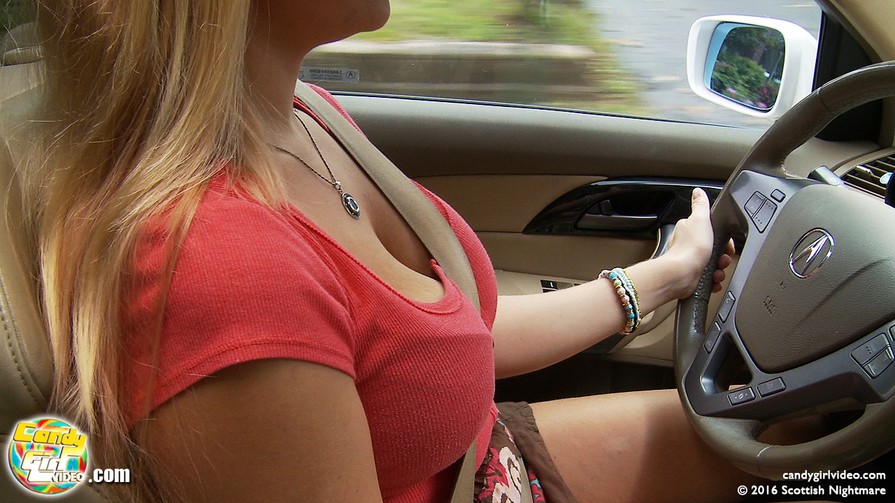 Driving women upskirt