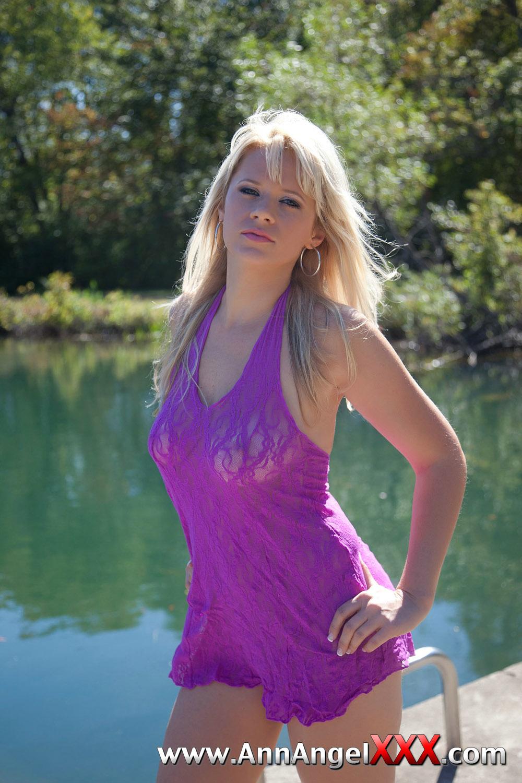 Hotty stop ann angel purple thong-356