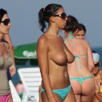 Busty Beach Babe