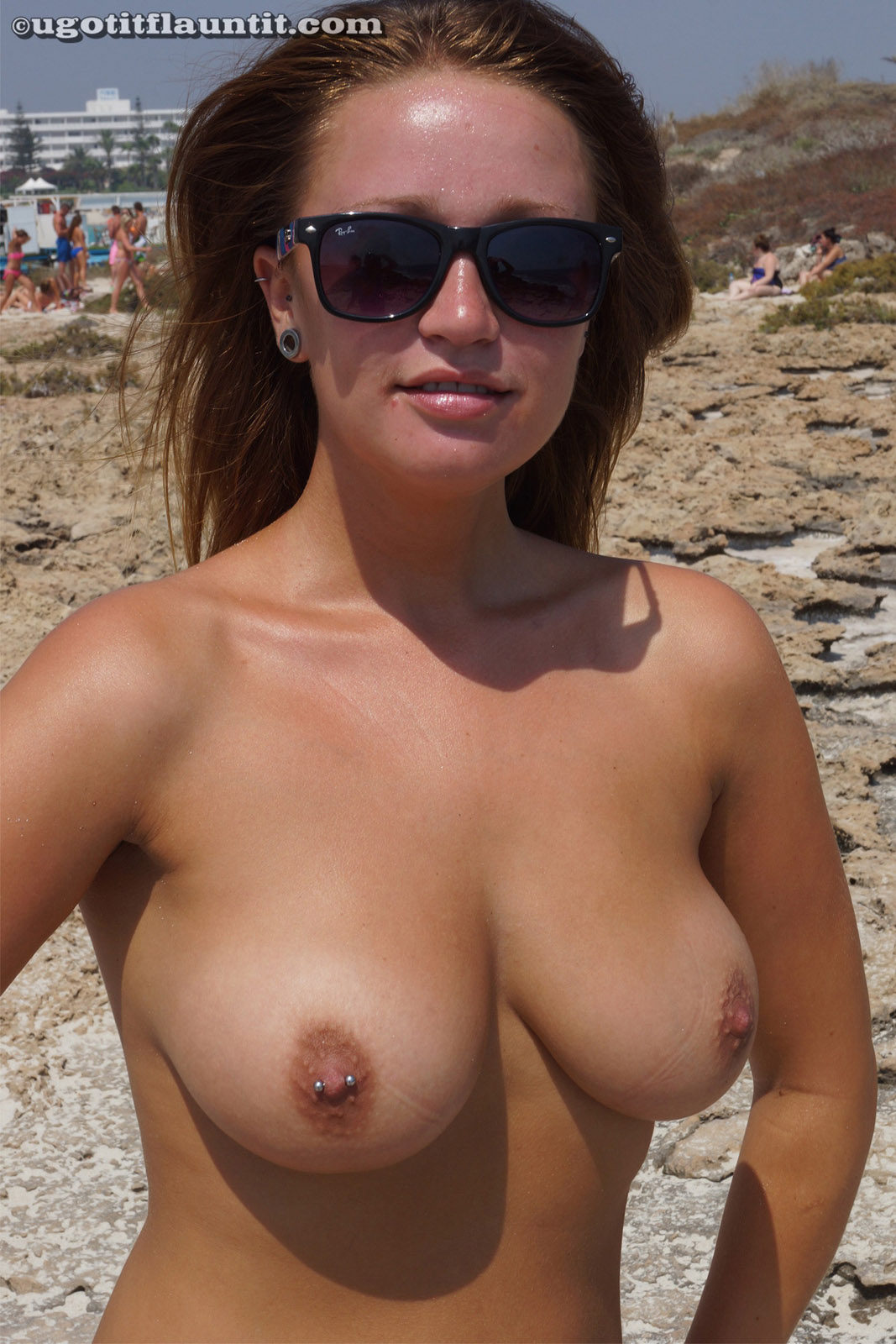 Brunette beach strip