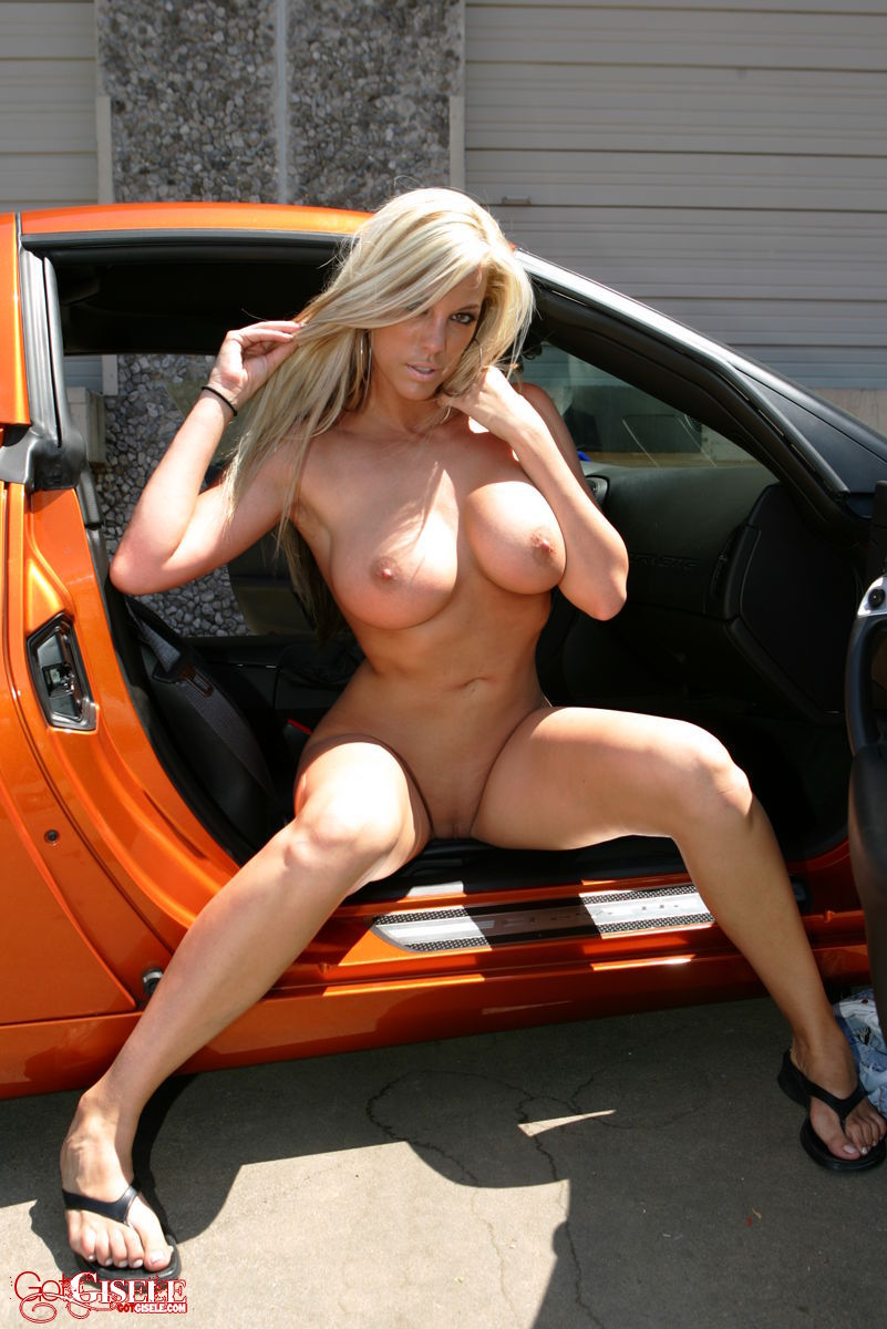 naked women on corvette