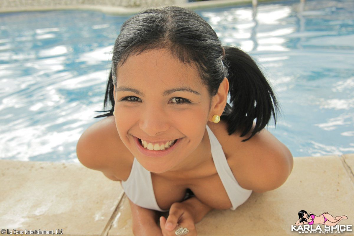 spice white bikini Karla