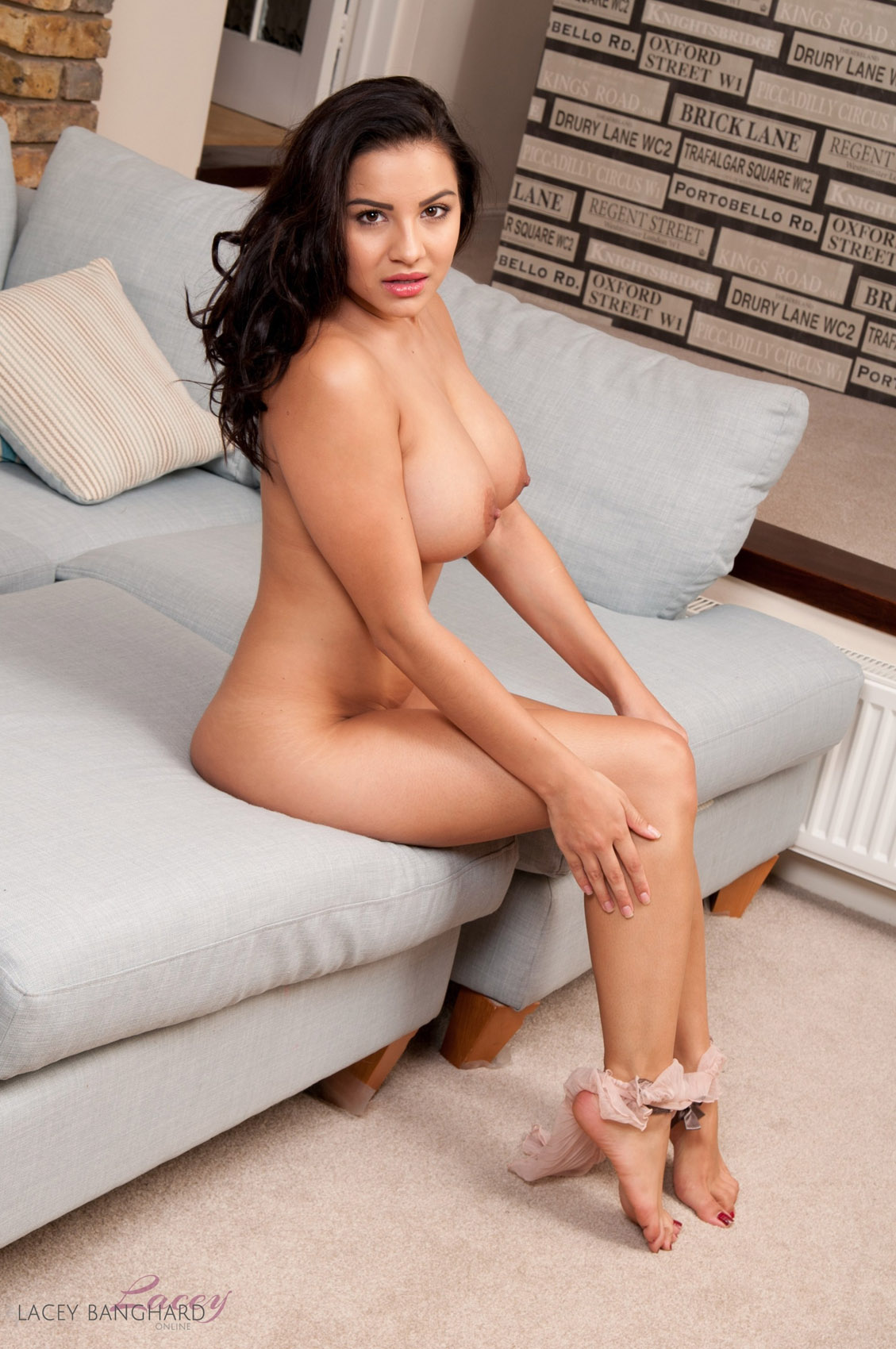 Big boobs panties couch