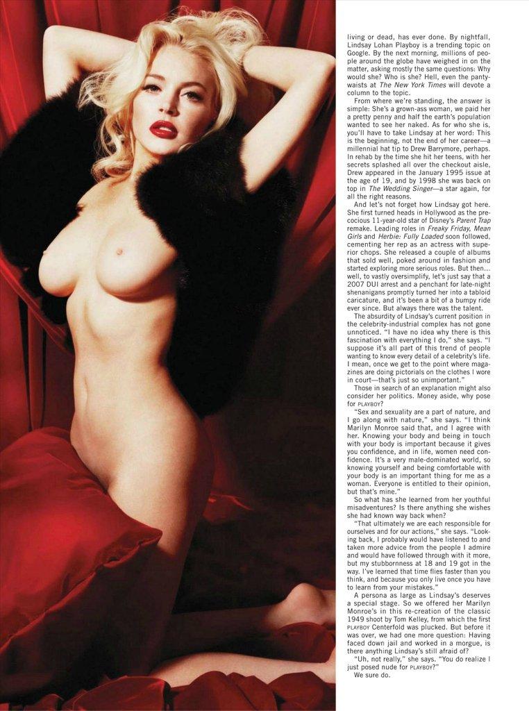 Lindsay lohan nude monro shoot