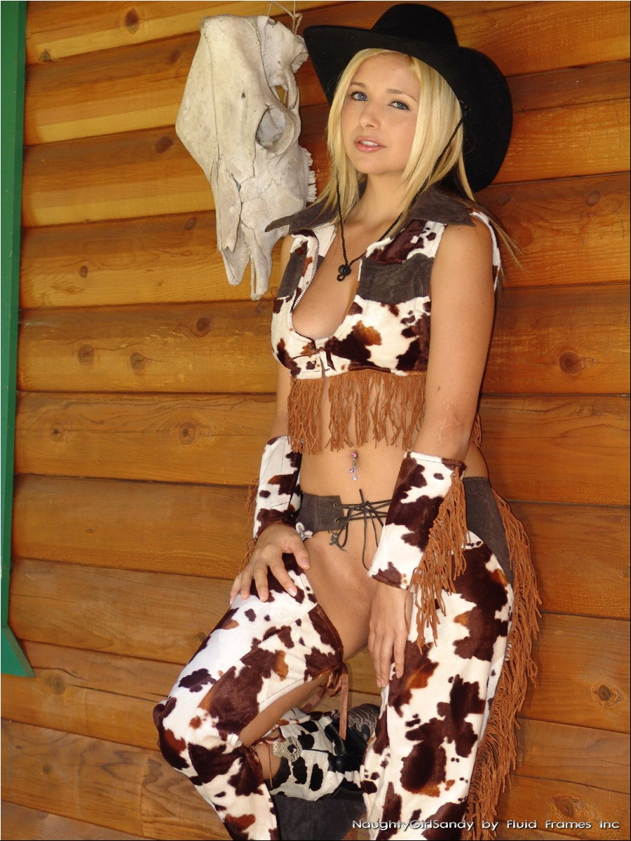 Naked cowgirls and chaps