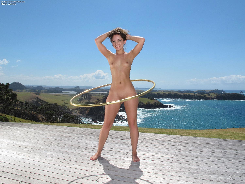 hoop nude Remy lacroix hula