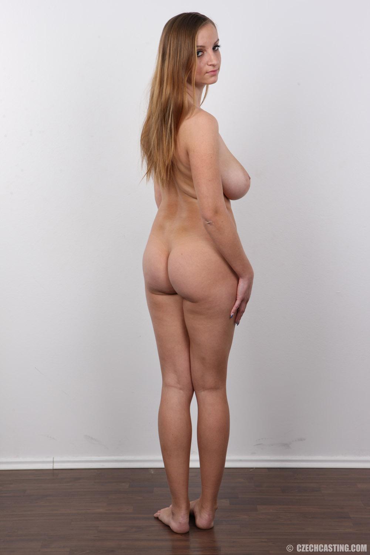Nude woman walking away