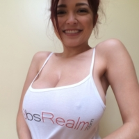 Big tits in a white tank top images