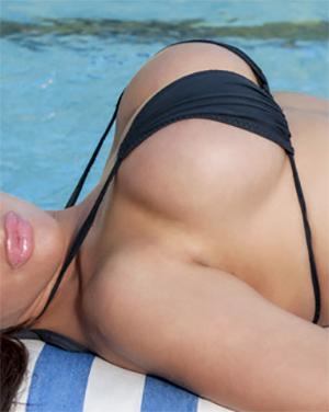 Abbee Kimberly Poolside Bikini Tits