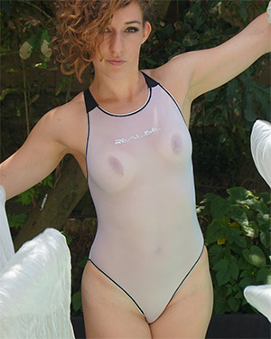 Abby Wet Angel Swimsuit Heaven