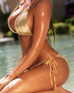 Ali Drew Tiny Bikini