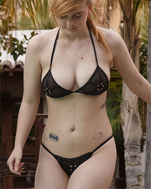 Alyssa Weiber String Bikini Fun Zishy