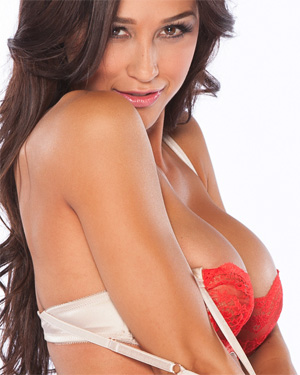 Ana Cheri Sexy Red Playboy