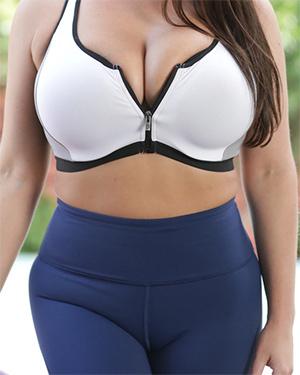 Angela White Ready For Hot Yoga