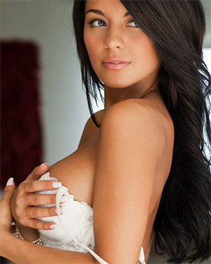 Angie Marie Brunette Playmate Gets Naked