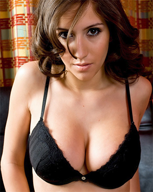 April ONeil Frisky In Black Lingerie