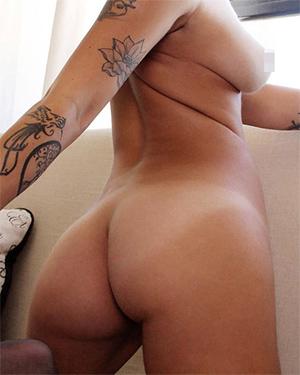Ashlee Nova Black Stockings Nudes
