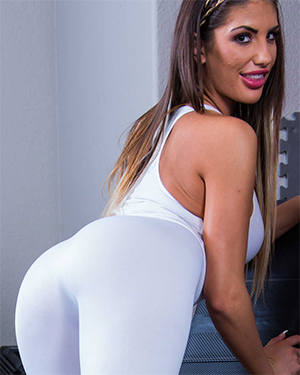 August Ames Sensual Steamy Workout
