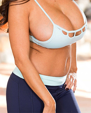 Ava Addams backyard yoga gone wild