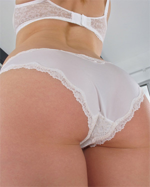 Bailey Rayne Cotton Panties In The Crack