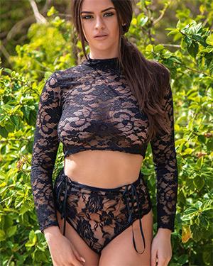 Brook Wright Black Lace Nudes