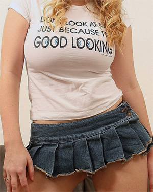 Brooke G Busty In Her Mini Skirt